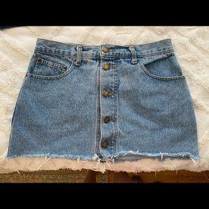 Cutoff Jean Skirt